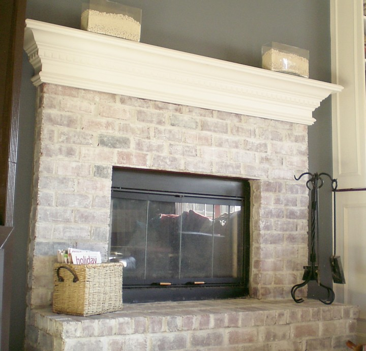 Fireplace Design painting brick fireplace white : 7 Steps to Whitewashing Your Brick Fireplace - Diamond Fireplace