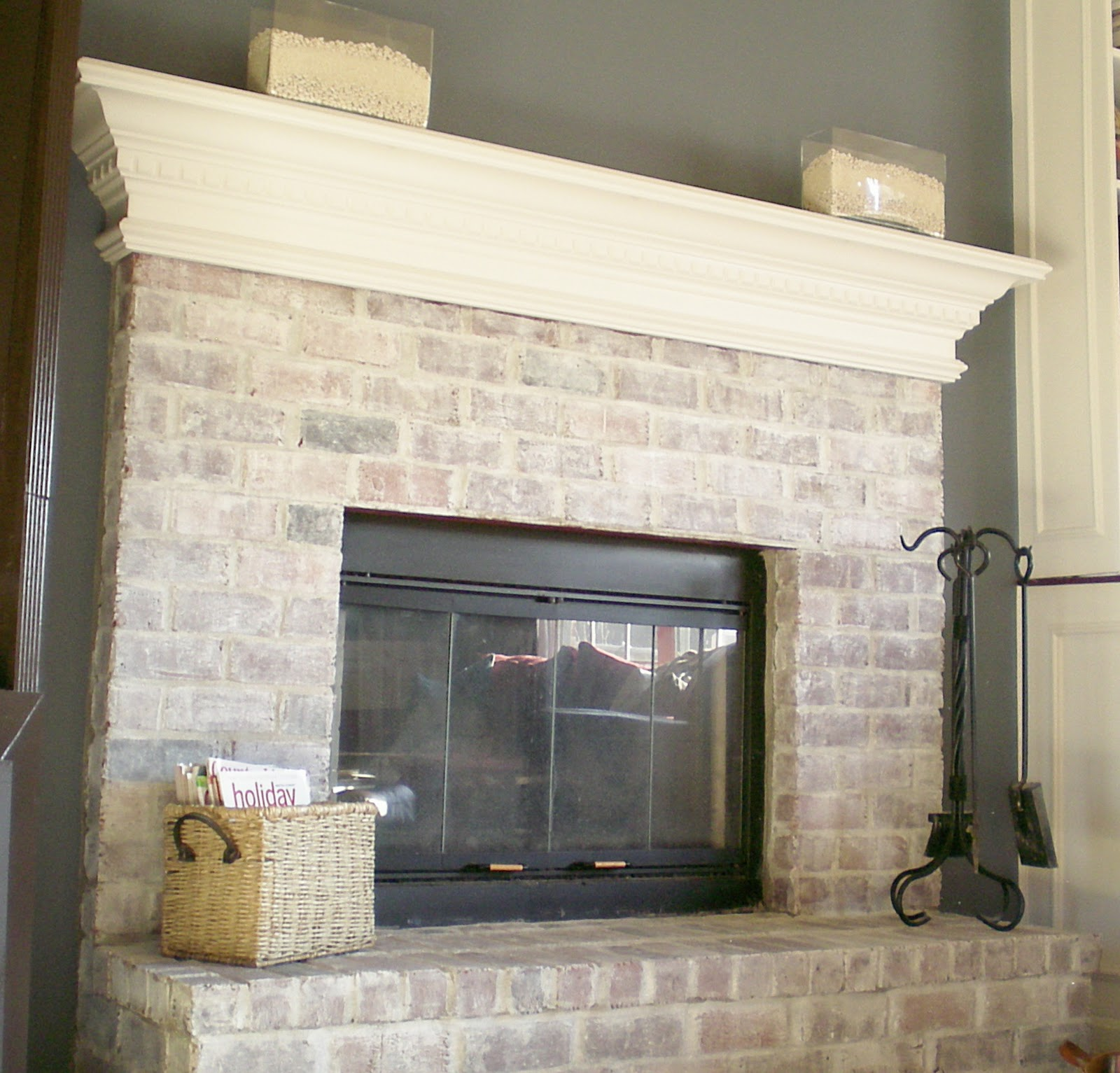 7 Steps To Whitewashing Your Brick Fireplace